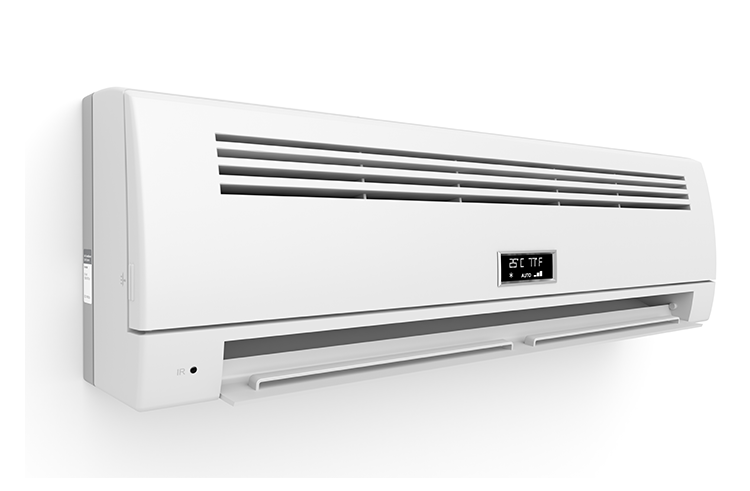 A wall unit air conditioning system.